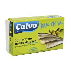 Calvo Sardinas en Aceite de Oliva Bajas en Sal Lata 180g