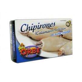 Orbe Chipirones Rellenos en Aceite de Vegetal Lata 111g