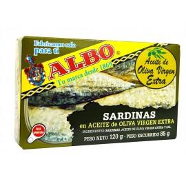 Albo Sardinas en Aceite de Oliva Virgen Extra Lata 120g
