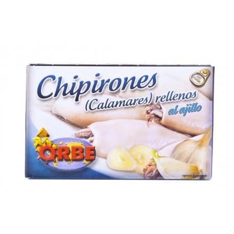 Orbe Chipirones Rellenos al Ajillo Lata 111g