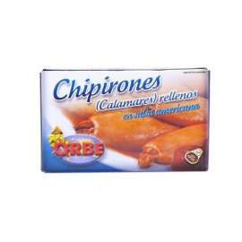 Orbe Chipirones Rellenos en Salsa Americana Lata 110g