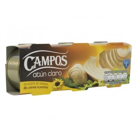Campos Atún Claro en Aceite de Girasol Pack 3x80g