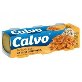 Calvo Calamares en Salsa Americana Pack 3x80g