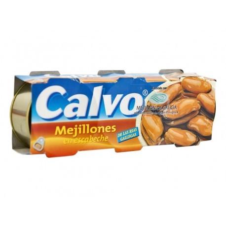 Calvo Pack 3x80g Mussels Escabeche Sauce