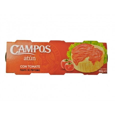 Campos Atún con Tomate Pack 3x80g