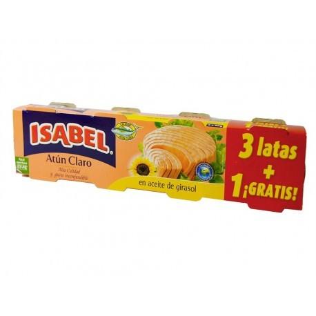Isabel Atún Claro en Aceite Girasol Alto Oleico Pack 3x80g