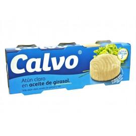 Calvo Atún Claro en Aceite de Girasol Pack 3x80g