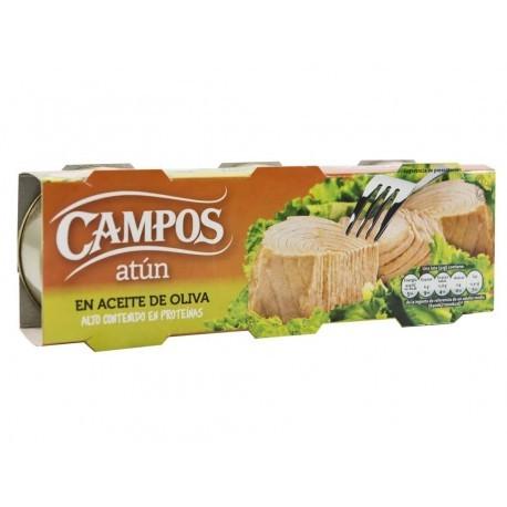 Campos Atún Claro en Aceite de Oliva Pack 3x80g