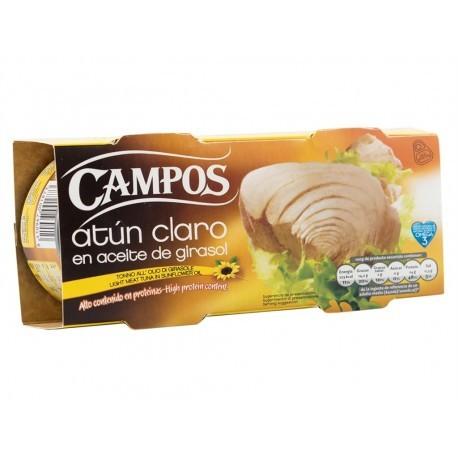 Campos Atún Claro en Aceite de Girasol Pack 2x160g