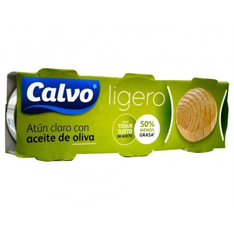 Calvo Atún Claro Ligero en Aceite de Oliva Pack 3x60g