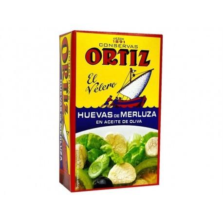 El Velero Ortiz Huevas de Merluza en Aceite de Oliva Lata 110g