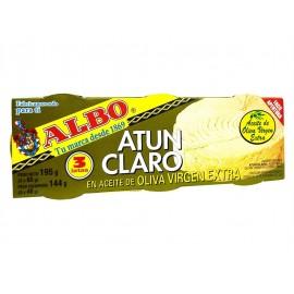 Albo Atún Claro en Aceite de Oliva Virgen Extra Pack 3x65g