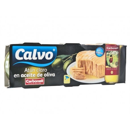 Calvo Atún Claro en Aceite de Oliva Carbonell Pack 3x100g