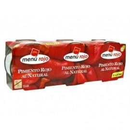 Menú Rojo Pimiento Rojo al Natural Pack 3x80g