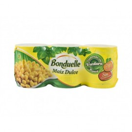 Bonduelle Pack 3x150g Sweet corn with no added sugars