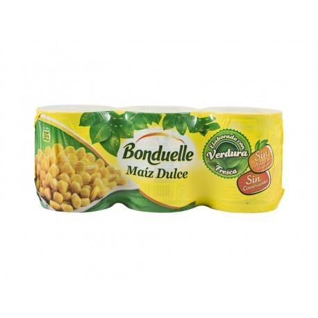 Bonduelle Maíz Dulce Sin Azúcares Añadidos Pack 3x150g