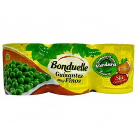 Bonduelle Pack 3x200g Soft and very fine peas