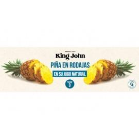 King John Piña en Rodajas Pack 3x140g