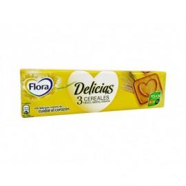 Flora Galletas Delicias 3 Cereales Paquete 200g