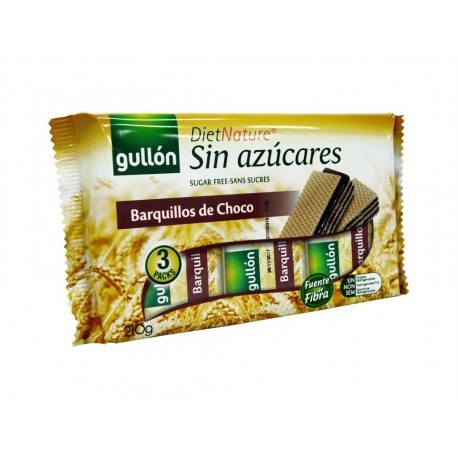 Gullon 210g package Sugar-free chocolate wafer cookies