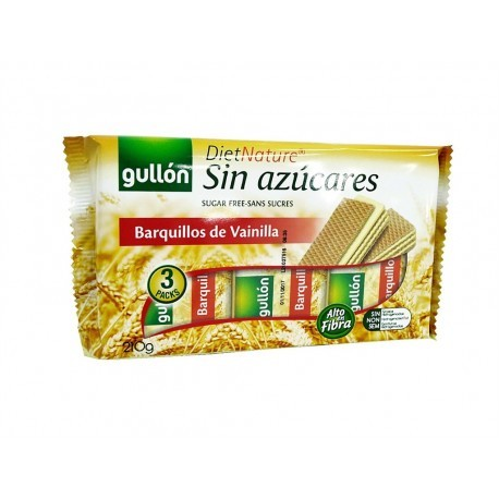Gullon 210g package Vanilla Sugar Free Wafers