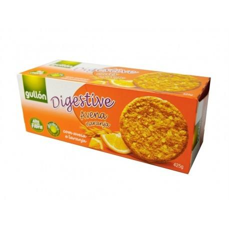 Gullon 425g box Oatmeal and orange digestive cookies
