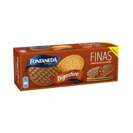 Fontaneda Galletas Digestive Finas Chocolate con Leche Caja 170g
