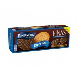 Fontaneda Biscuits Digestive fins au chocolat noir Boite 170g