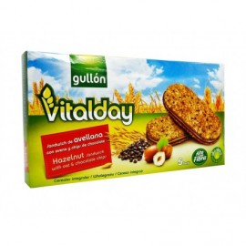 Gullon 240g box Vitalday hazelnut cookie with oats and chocolate