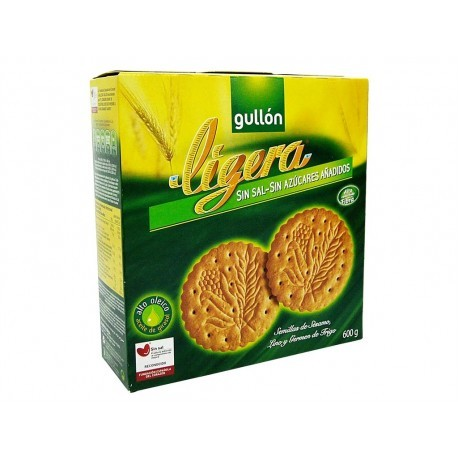 Gullon 600g box Light cookies without salt or added sugars