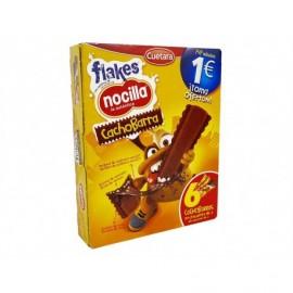 Cuétara Box of 6 units Nocilla Filled Chocolate Flake Bars