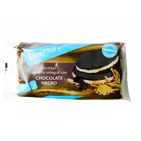 Bicentury Tortitas de Arroz con Chocolate Negro Paquete 130g