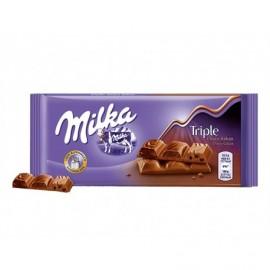 Milka 90g bar Triple Chocolate Chocolate