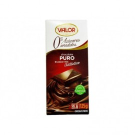 Valor Chocolate Puro Sin Azúcar Tableta 100g