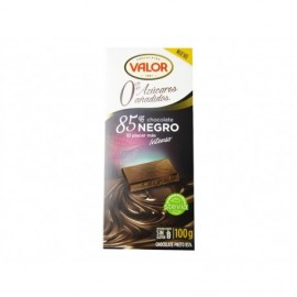 Valor Chocolate Negro 85% Sin azúcar 100g