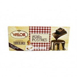 Valor 200g bar Pure chocolate for desserts