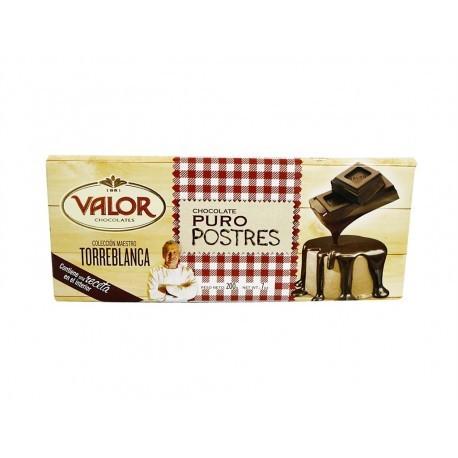 Valor Chocolate Puro para Postres Tableta 200g