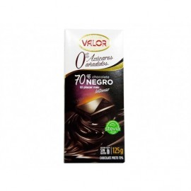 Valor Chocolate Negro 70% Sin Azúcar Tableta 125g