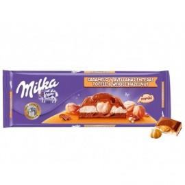 Milka 300g bar Caramel and Hazelnut Chocolate