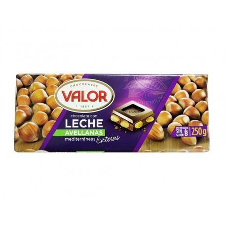 Valor Chocolate con Leche y Avellanas Mediterráneas Tableta 250g