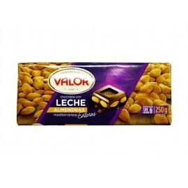 Valor Chocolate con Leche y Almendras Mediterráneas Tableta 250g
