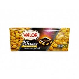 Valor Chocolate Negro 70% con Almendras Tableta 250g
