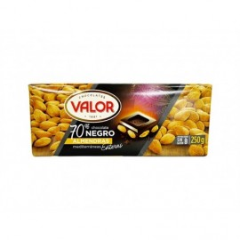 Valor Chocolate Negro 70% con Almendras Tableta 250g