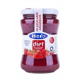 Hero Diet Marmellata leggera di fragole Vasetto di vetro da 280 g