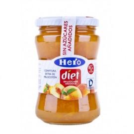 Hero Diet Confettura leggera di pesche Vasetto di vetro da 280 g