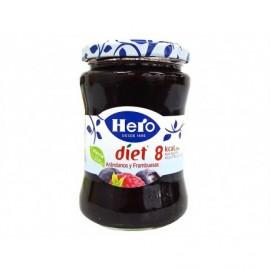 Hero Diet Marmellata di mirtilli e lamponi Vasetto di vetro da 280 g