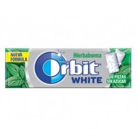Orbit White Chicles de Hierbabuena Sin Azúcar Paquete 10 Grageas