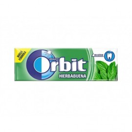 Orbit Chicles de Hierbabuena Sin Azúcar Paquete 10 Grageas