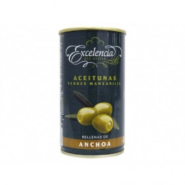Excelencia Tin 350g Manzanilla olives stuffed with Cat Extra anchovies