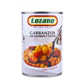 Lozano Garbanzos con Chorizo Lata 425g